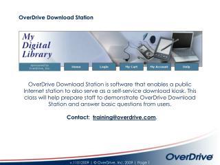 OverDrive Download Station
