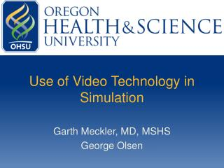 Use of Video Technology in Simulation