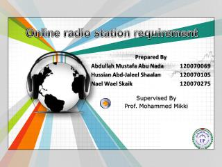 Online radio station requirement