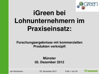Jan Horstmann  05.  Dezember  2012 Folie 1  von 29