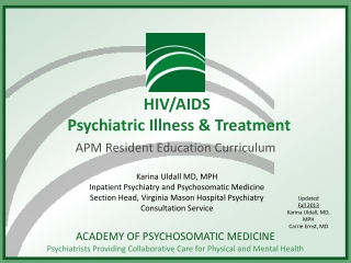 hiv and  anxiety disorders