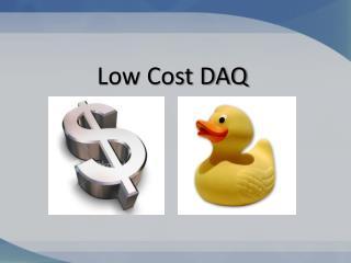 Low Cost DAQ
