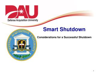Smart Shutdown Considerations for a Successful Shutdown