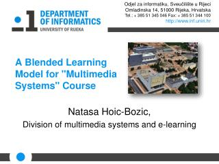 A Blended Learning Model for