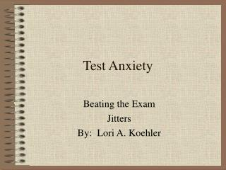 test anxiety