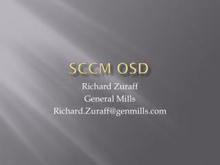 SCCM OSD
