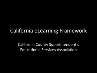 California eLearning Framework