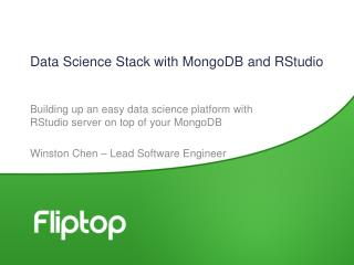 Data Science Stack with  MongoDB  and  RStudio