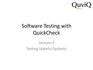 Software Testing with  QuickCheck