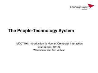 The People-Technology System