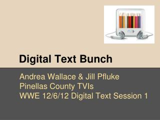 Digital Text Bunch