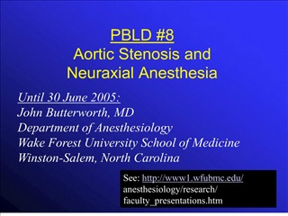 pbld 8 aortic stenosis and neuraxial anesthesia