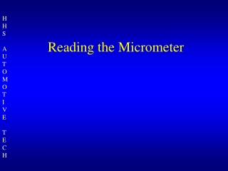 reading the micrometer