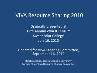 VIVA Resource Sharing 2010
