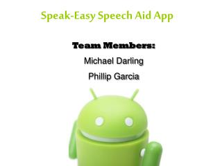 Speak-Easy Speech Aid App