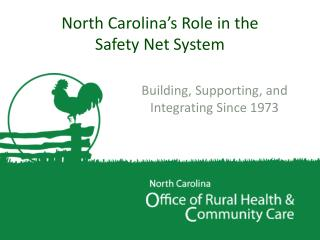 North Carolina's Role in the  Safety Net System