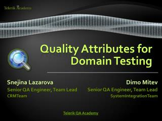Quality Attributes for Domain Testing