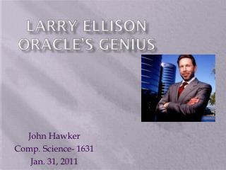 Larry Ellison Oracle's genius