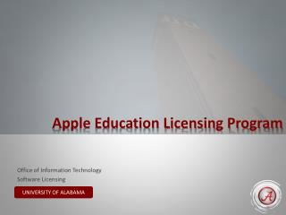 Apple Education Licensing Program