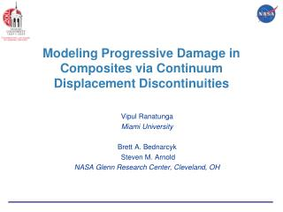 Modeling Progressive Damage in Composites via Continuum Displacement Discontinuities