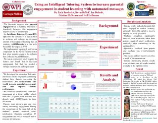 Using an Intelligent Tutoring System to increase parental  engagement in student learning with automated messages