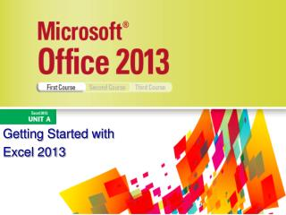 Getting Started with  Excel 2013