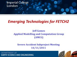 Emerging Technologies for FETCH2