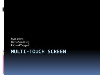 Multi-Touch Screen