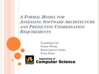 A Formal Model for  Assessing  Software Architecture and Predicting Coordination Requirements