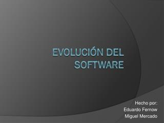 Evoluci�n del software
