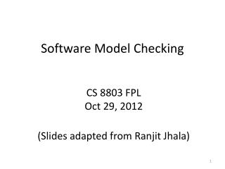 Software Model Checking