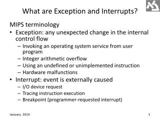 What  are Exception and Interrupts?