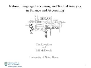 Natural Language Processing and Textual Analysis in Finance and Accounting