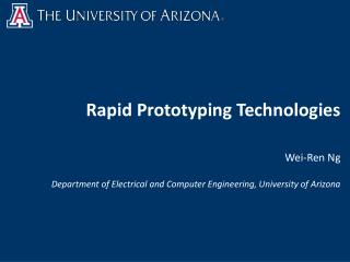 Rapid Prototyping Technologies