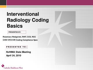 interventional radiology coding basics