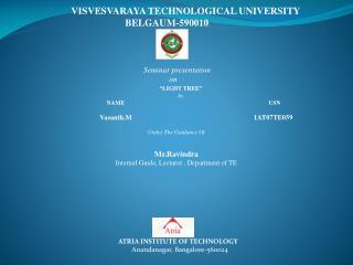 VISVESVARAYA TECHNOLOGICAL UNIVERSITY                       BELGAUM-590010