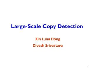 Large-Scale Copy Detection
