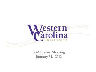 SGA Senate Meeting January 31,  2012