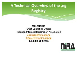 A Technical Overview of the .ng Registry