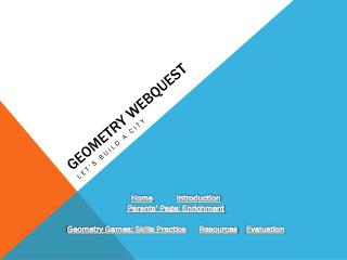 Geometry  Webquest