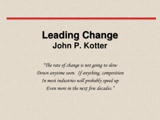 leading change john p. kotter