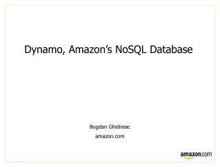 Dynamo, Amazon's  NoSQL Database