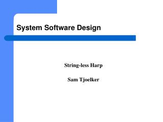System Software  Design