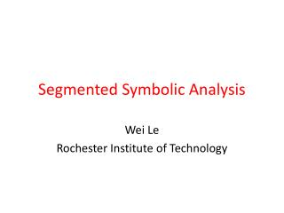 Segmented Symbolic Analysis