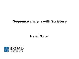Sequence analysis with Scripture