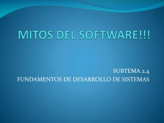MITOS DEL SOFTWARE!!!