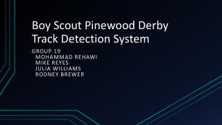 Boy Scout Pinewood Derby Track Detection System