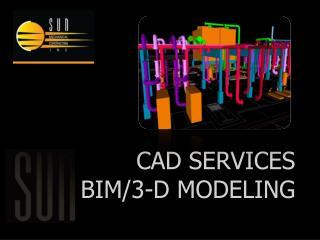CAD Services BIM/3-D Modeling