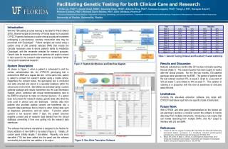 Facilitating Genetic Testing for both Clinical Care and Research