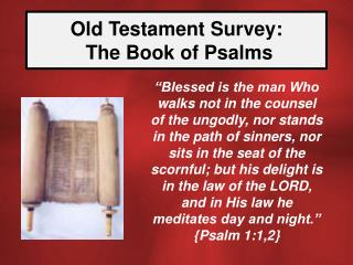 old testament survey:   the book of psalms